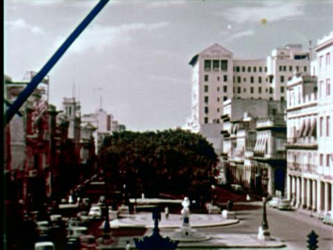 vidéos et rushes de ws view of city  audio / havana, cuba - 1950 1959