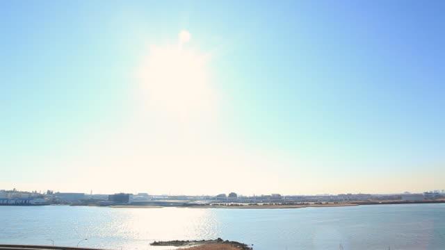 ws view of city beside sea/ kawasaki, kangawa, japan  - 神奈川県点の映像素材/bロール
