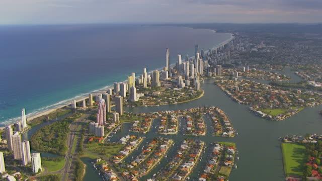 WS AERIAL ZI View of city / Brisbane, Victoria, Australia