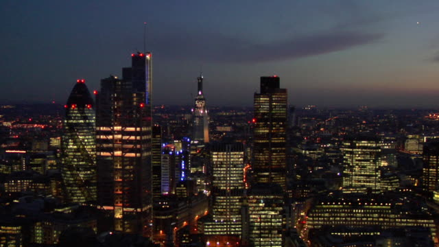 ws pan view of city building / london, united kingdom - cityscape stock videos & royalty-free footage