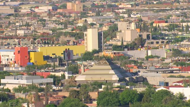 WS AERIAL View of City / Ciudad Juarez, Mexico