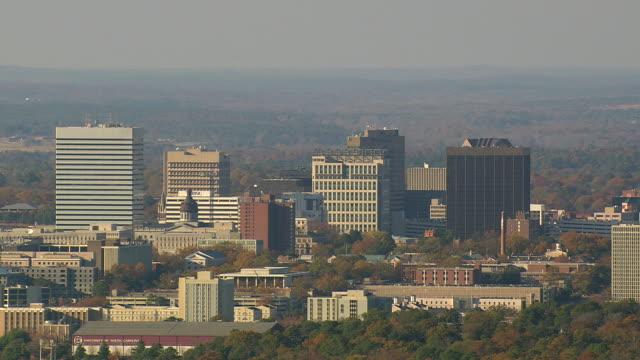 ws aerial view of city columbia / south carolina, united states - carolina del sud video stock e b–roll