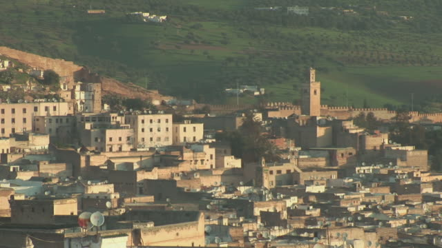 ms zo view of city / fez-boulemane, morocco - 2008 stock videos & royalty-free footage