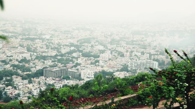 WS POV View of city from Kailasagiri Park / Visakhapatnam, Andhra Pradesh, India