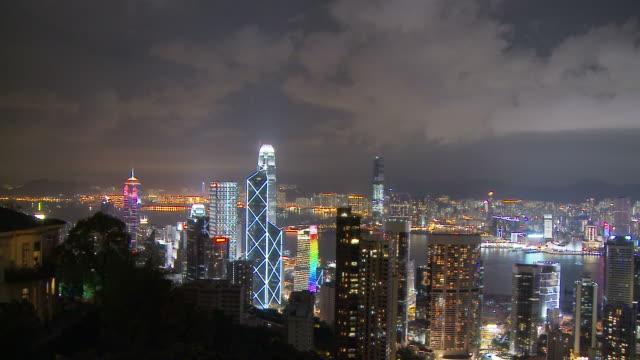 View of City from the Peak at Hong Kong, China