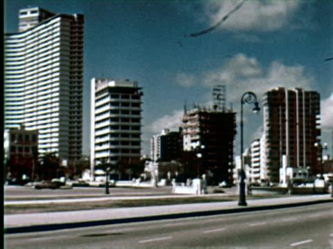 ws pan view of city highway, belgrade, yugoslavia / audio - cuba stock videos & royalty-free footage