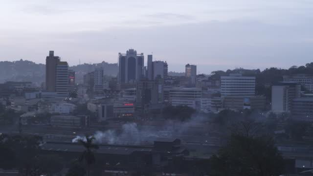 ws view of city / kampala, kampala, uganda - kampala stock videos & royalty-free footage