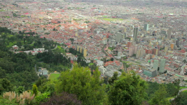 WS PAN View of City of Bogota from Monserrate, Religious site and Church / Bogota, Cundinamarca, Colombia