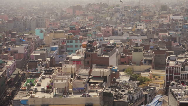 view of city of new delhi from above - new delhi stock videos & royalty-free footage