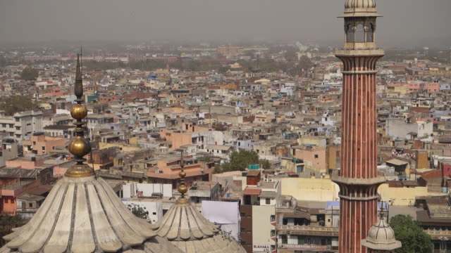 View of city of New Delhi from Indian Friday Mosque