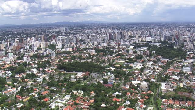 WS AERIAL View of City / Parana, Brazil