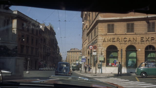 ms pov view of city / rome, italy - 1960 stock videos & royalty-free footage