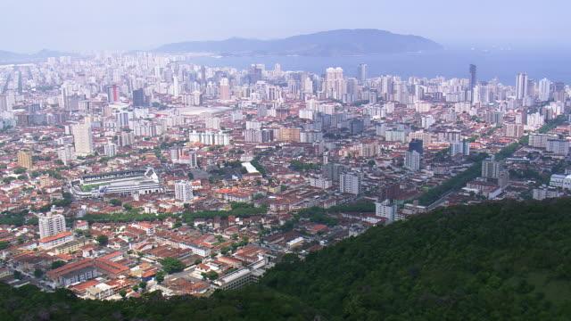 vidéos et rushes de ws aerial view of city / sao paulo, brazil - sao paulo