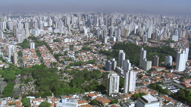 WA AERIAL View of City / Sao Paulo, Brazil