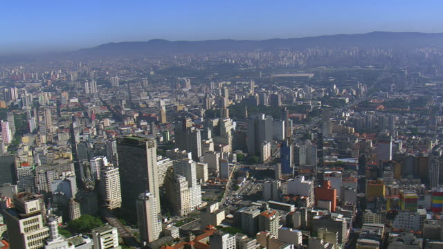 ws aerial view of city / sao paulo, brazil - urban road stock videos & royalty-free footage
