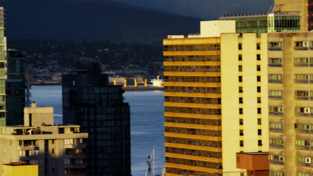 View of city skyline landscape in Vancouver Canada