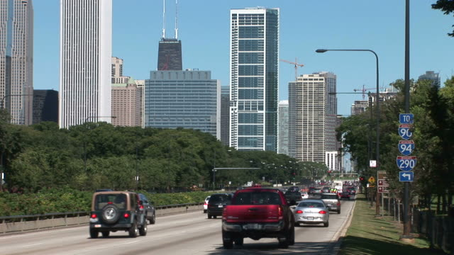 View of City Street in Chicago United States