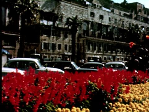 MS View of city wall, Belgrade, Yugoslavia / AUDIO