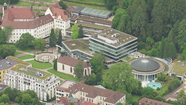 WS AERIAL ZI TS View of City with Hotels and surrounding area / Baden Baden, Baden Wurttemberg, Germany