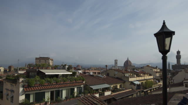 view of cityscape and basilica di santa maria del fiore or known as duomo - fiore stock videos & royalty-free footage