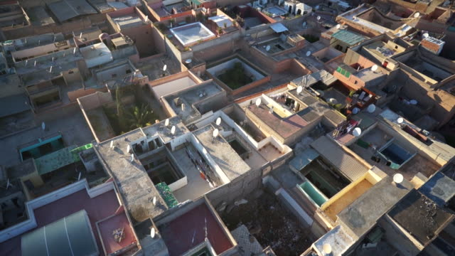 WS POV View of cityscape in Marrakesh