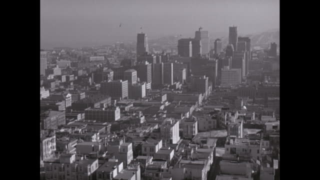 ws pan view of cityscape / san francisco, california, united states - san francisco stock-videos und b-roll-filmmaterial