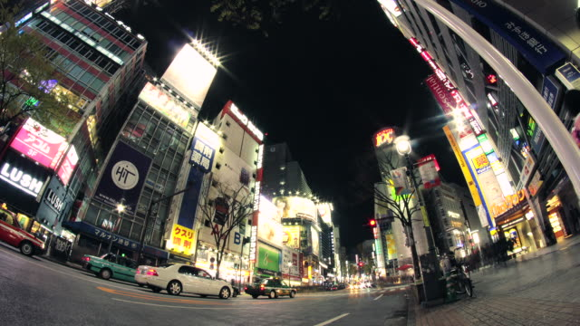 ws la t/l view of cityscape / shibuya, tokyo, japan - wide angle stock videos & royalty-free footage