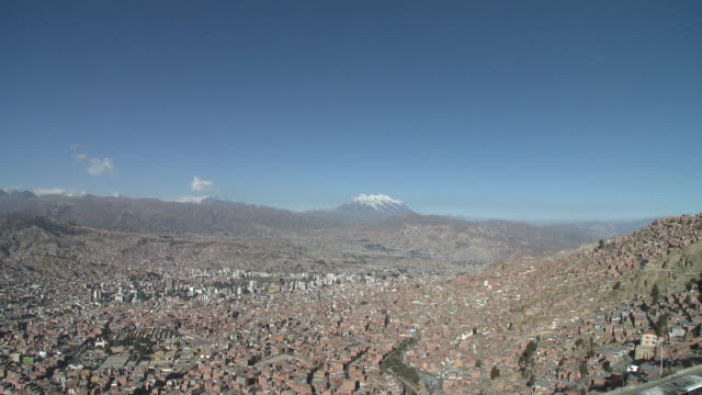 ws view of cityscape with el alto road / la paz , bolivia - ボリビア点の映像素材/bロール