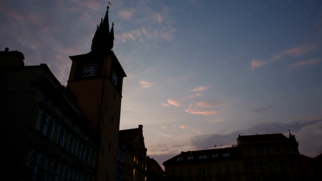 view of clock tower at prague - czech culture stock videos & royalty-free footage
