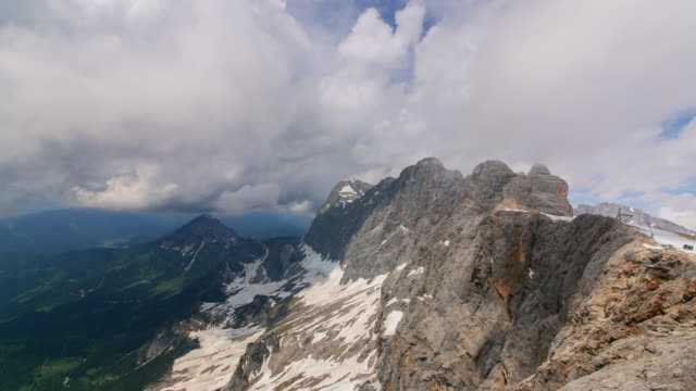 ws tu t/l view of cloud sea in dachstein mountain range / dachstein, austria  - dachstein mountains stock videos and b-roll footage