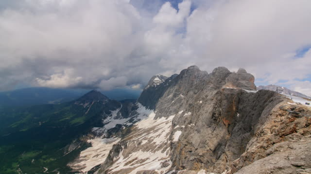ws t/l view of cloud sea in dachstein mountain range / dachstein, austria  - dachstein mountains stock videos and b-roll footage