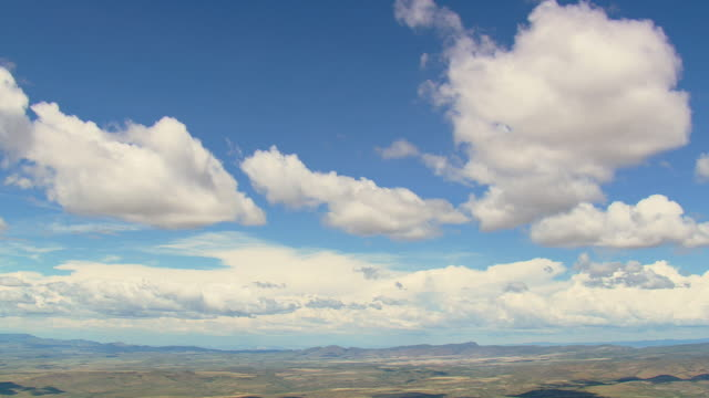WS AERIAL View of Clouds and Agua Fria National Monument / Arizona, United States