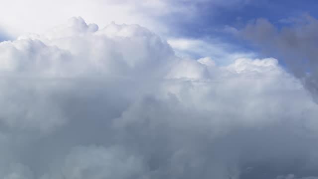ws aerial zo view of clouds / minas gerais, brazil - minas stock videos and b-roll footage
