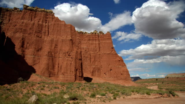 ws t/l view of clouds moving over glen canyon / moab, utah, usa   - moab utah stock videos and b-roll footage