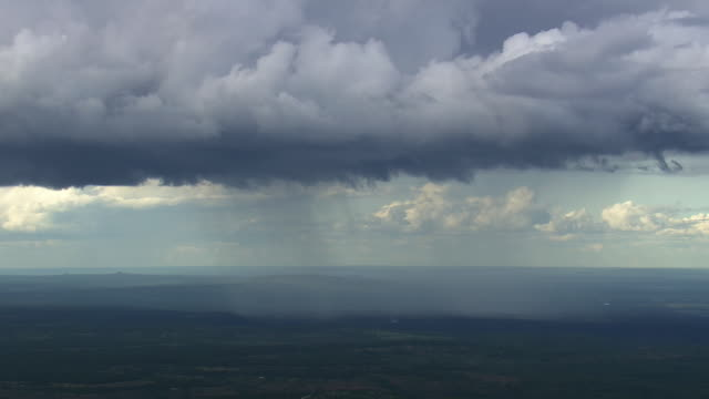ws aerial view of clouds with fog / minas gerais, brazil - minas stock videos and b-roll footage