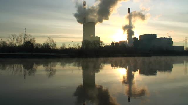 WS View of coal power plant / Saarlouis, Saarland, Germany
