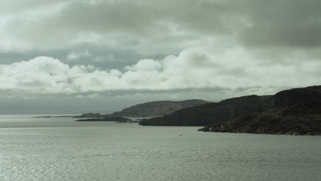 view of coastline along bellot strait - northwest passage stock videos and b-roll footage