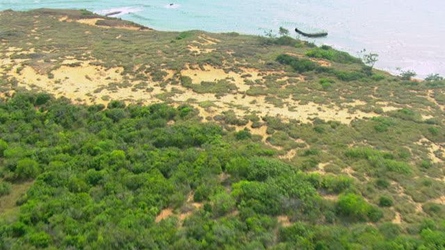 WS AERIAL View of coastline and ocean / Darwin, Northern Territory, Australia