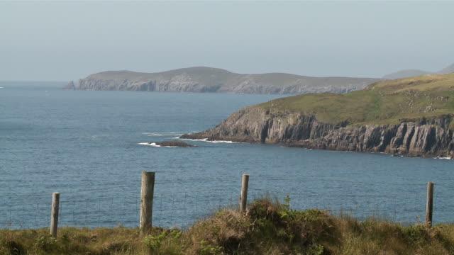ws view of coastline / casteltownbere,  county cork, ireland - county cork stock videos & royalty-free footage