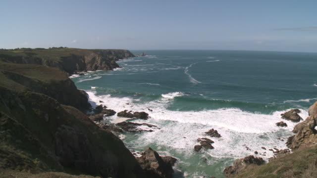 WS View of coastline / Crozon, Brittany, France