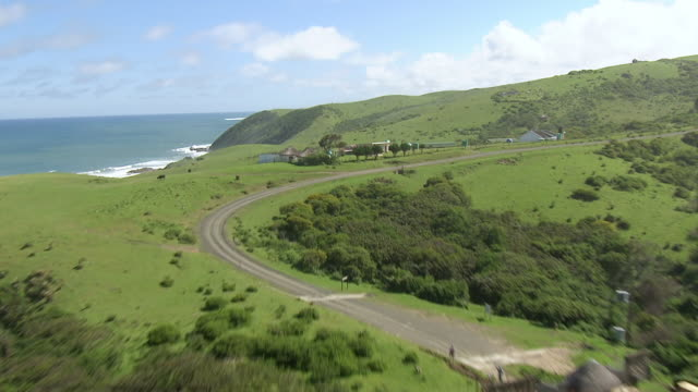 ws aerial view of coastline / durban, kwazulu natal, south africa - durban stock videos and b-roll footage