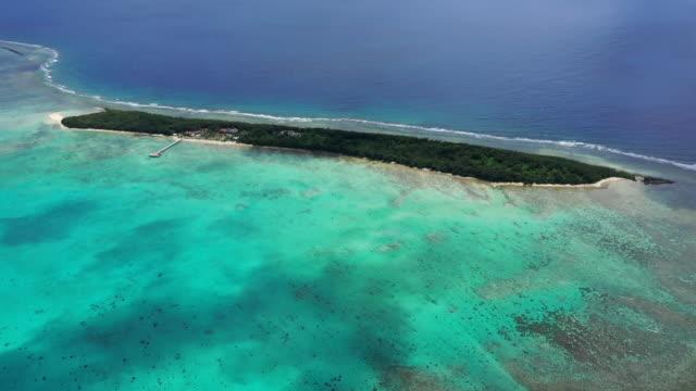 view of cocos islands (guam) - guam video stock e b–roll