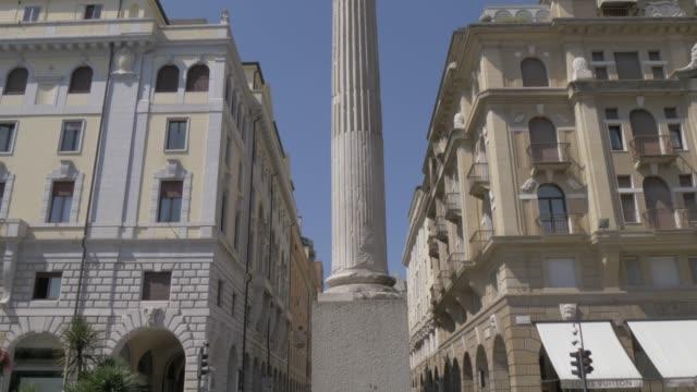 View of Colonna Madonna di Noli in Piazza Garibaldi, Padua, Veneto, Italy, Europe