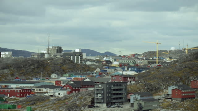 View Of Colorful Buildings In Nuuk Greenland