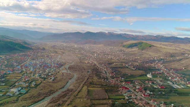 view of comanesti, romania - romania stock videos & royalty-free footage
