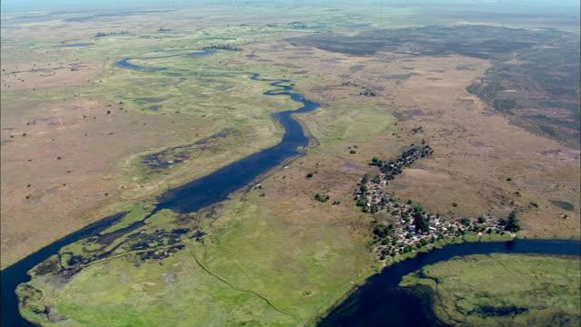vídeos de stock e filmes b-roll de view of congo river and marsh, africa - planície