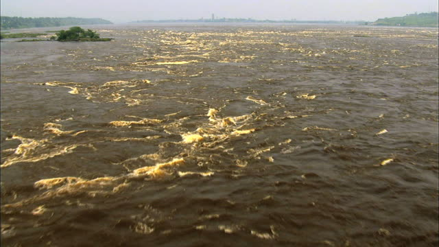 view of congo river upstream, central africa - wide stock videos & royalty-free footage