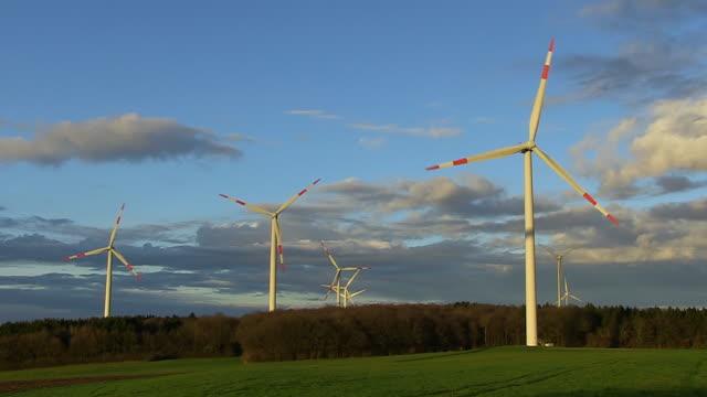 WS View of Construction of windturbine / Kirf, Rhineland Palatinate, Germany