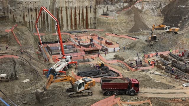 view of construction site on sao paulo, brazil - mining natural resources stock videos & royalty-free footage