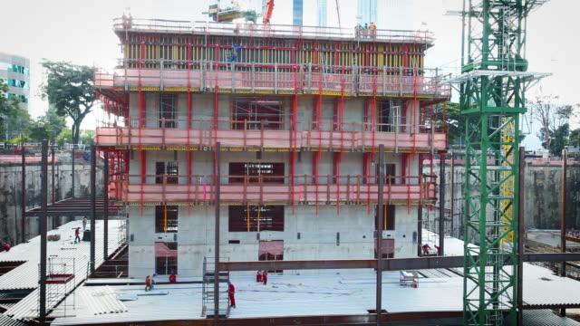 vídeos de stock, filmes e b-roll de view of construction site - negócios finanças e indústria